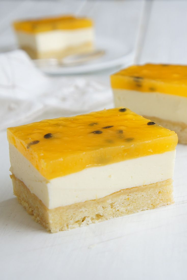 You need this passionfruit slice in your life!
