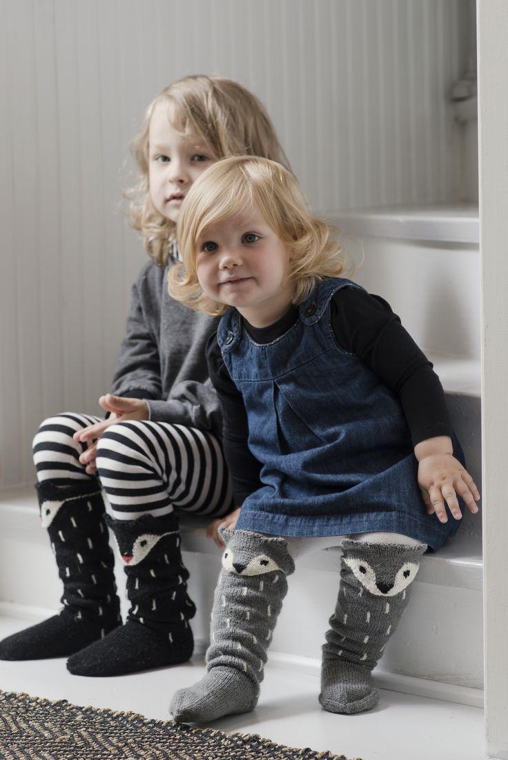 Novita wool socks, Kids fox socks made with Novita Venla yarn #novitaknits #knitting #knits #villasukat #raggsockor https://www.novitaknits.com/en