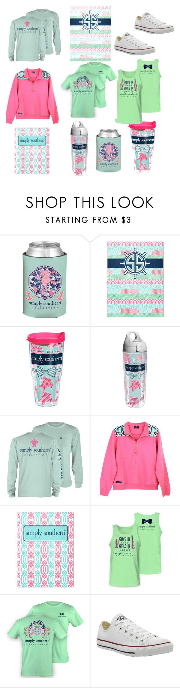 """Simply southern!!"" by sophie2341 ❤ liked on Polyvore featuring mode, Tervis et Converse"