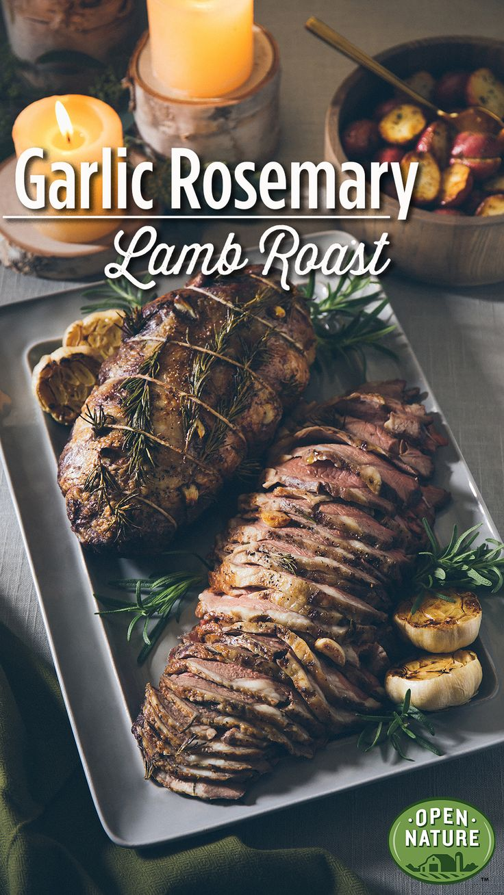 This Garlic Rosemary Lamb Roast is out of this world! Seasoned with red wine, fresh rosemary, garlic, salt and pepper, this dish is flavorful and seasonal. And with only 15 minutes of prep time, this recipe is simple and easy to create, making it a sure hit among all your friends and family!
