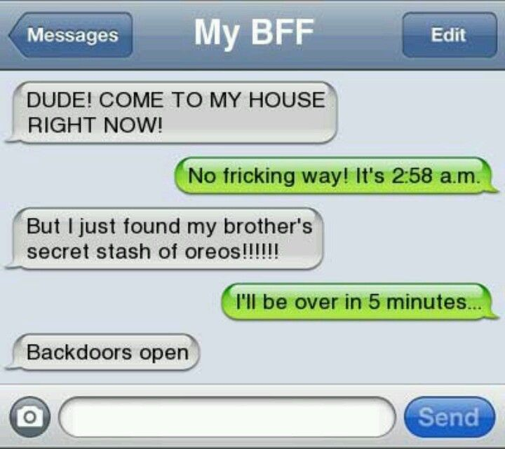 This is something my friend would do.