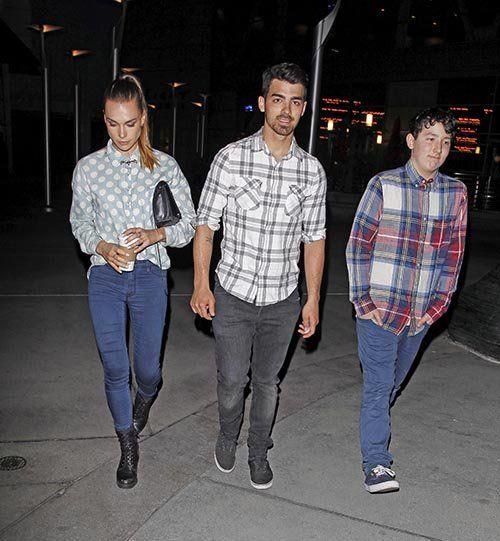 Joe Jonas, Blanda Eggenschwiler and Frankie Jonas at ArcLight Cinemas (March 18).