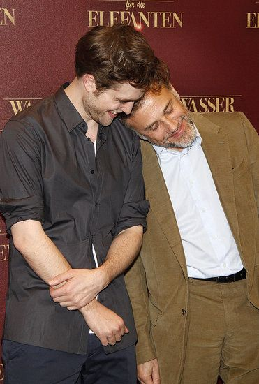 Robert Pattinson and Christoph Waltz