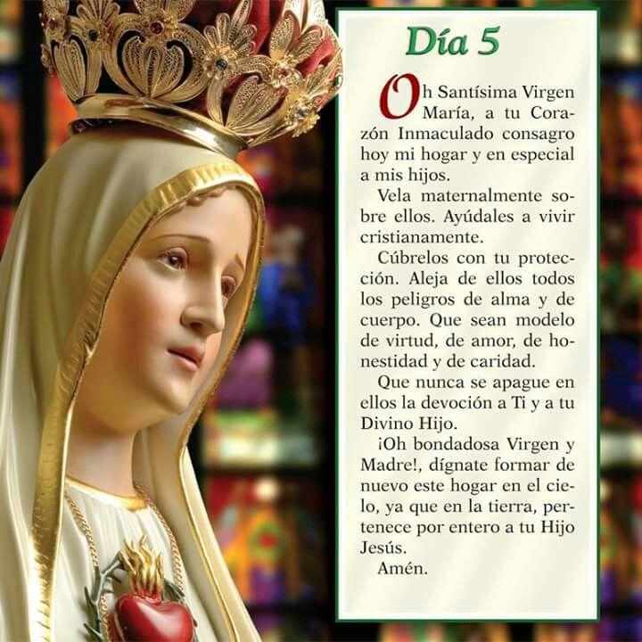 Oración día 5, Mayo mes de Maria