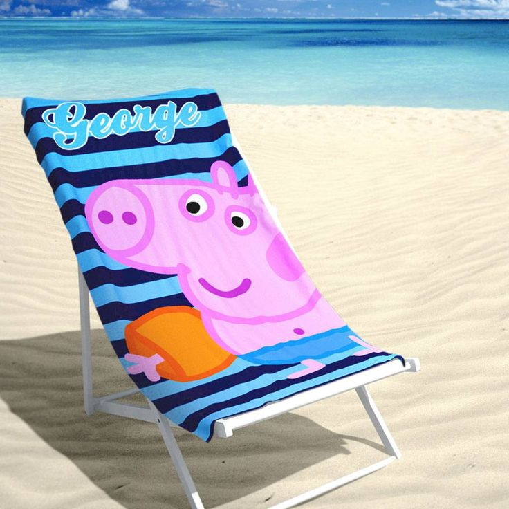 Velours Strandlaken - Peppa Pig - George (70x140cm) #strandhanddoek #peppapig #peppabig