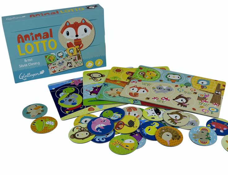 Animal Lotto Game for the kids! Cute and colourful pictures the kids will love!