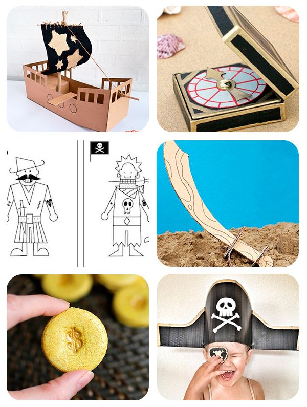 manualidades infantiles de piratas