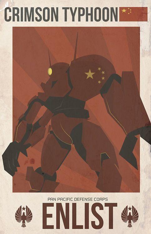 Fan poster: Crimson Typhoon Da: http://lrdezign.tumblr.com/  #PacificRim #PacificRimIT