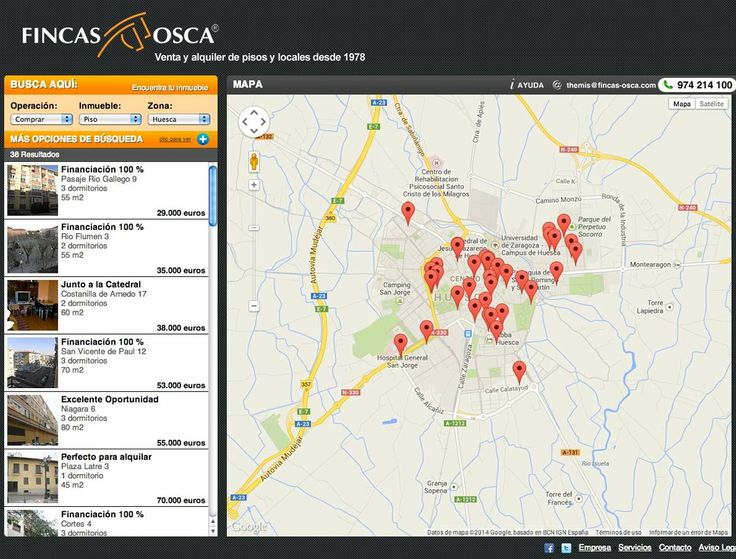 Fincas Osca - Venta y alquiler de pisos: www.fincas-osca.com #web #casas