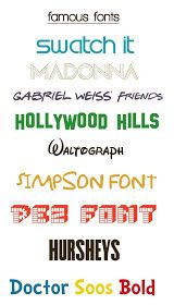 K.I.S.S. {Keep It Simple, Sister}: Famous Free Fonts – Fonts