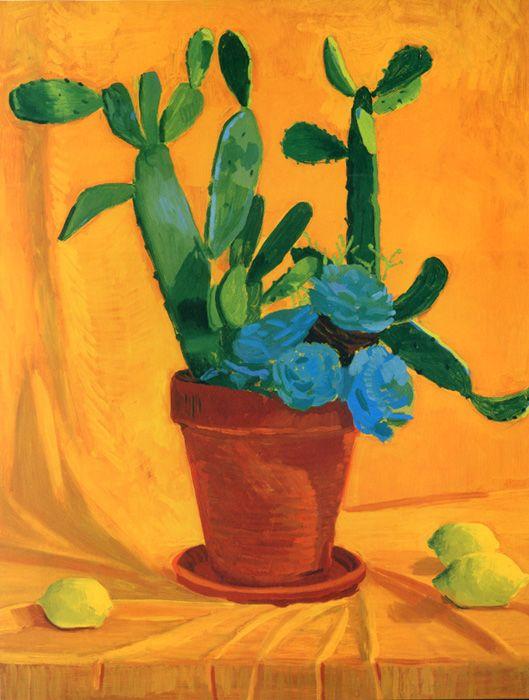 "David Hockney ""Cactus with Lemons"" 1996"