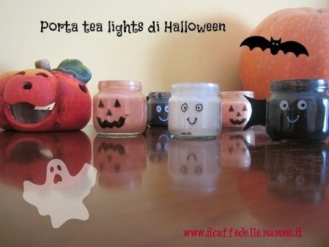 [Tutorial] Porta tea lights di Halloween