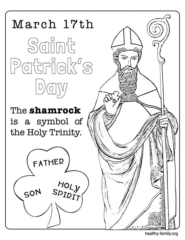 christian st patrick coloring pages - photo#8