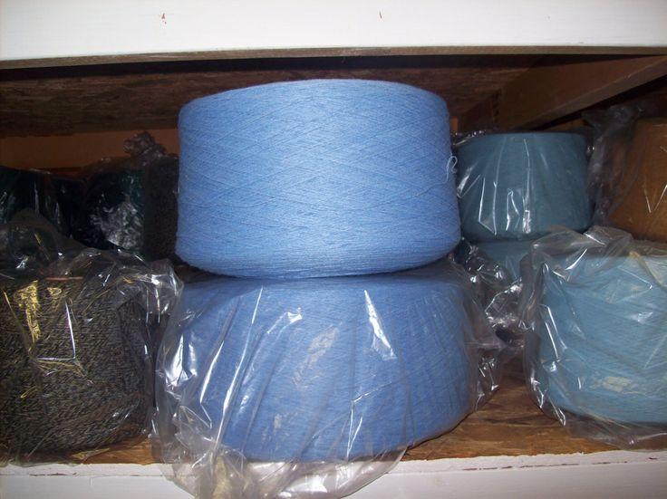 Blue Acrylic Yarn on Cones, 2/17 Acrylic, Fingering Weight Yarn, Machine Knitting Yarn, Sock Machine Yarn by stephaniesyarn on Etsy