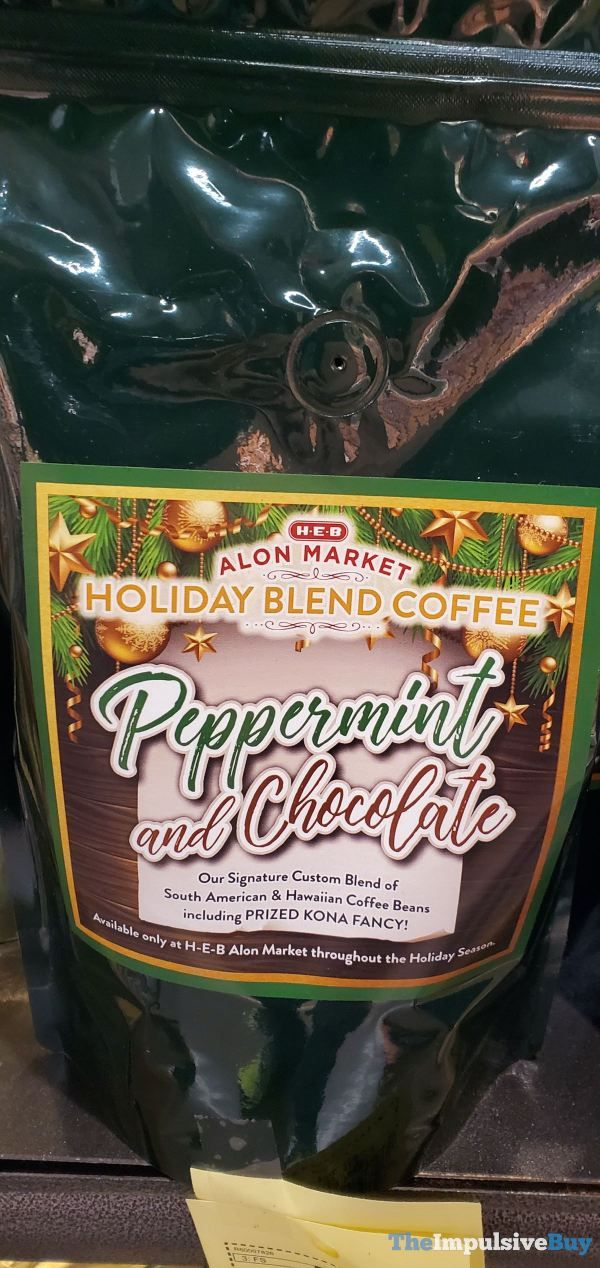 HEB Alon Market Holiday Blend Coffee Peppermint and