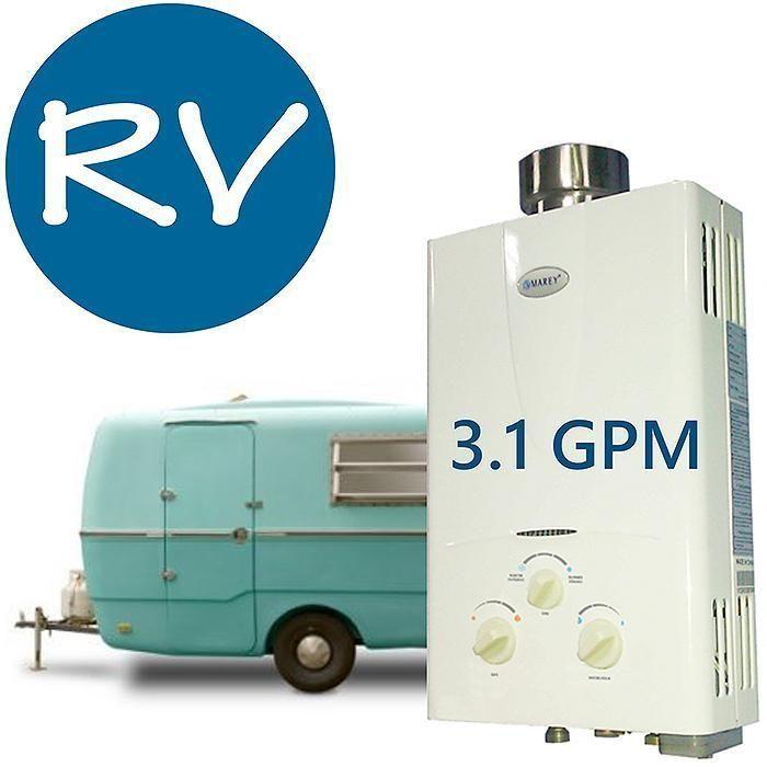 Tankless Hot Water Heater 3.1 GPM Marey Propane Gas On Demand RV Camper Trailer #Marey