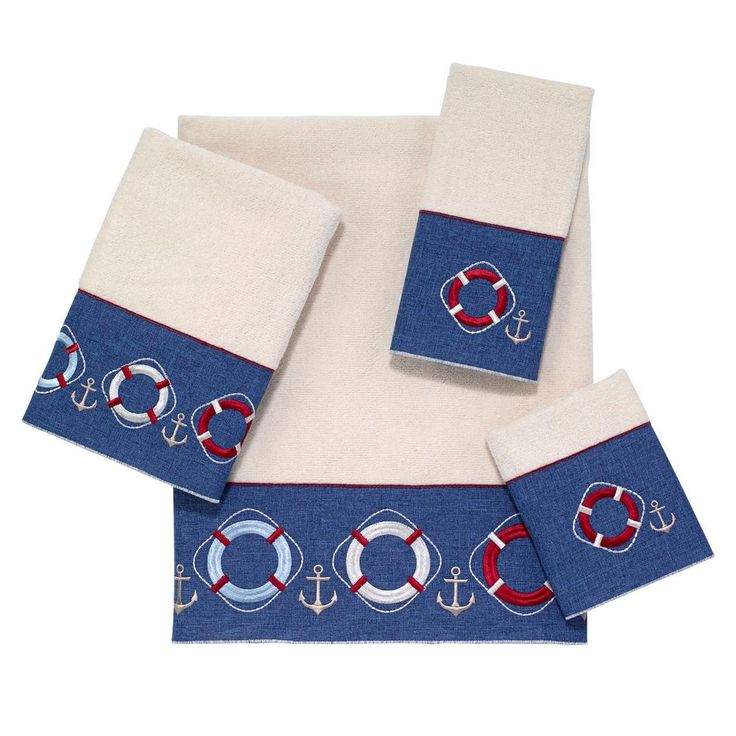 Life Preservers 4-Piece Bath Towel Set in Ivory