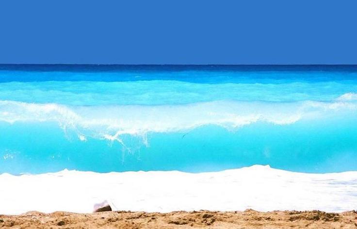 The amazing turquoise waters of Kathisma beach, Lefkada island ~ Greece