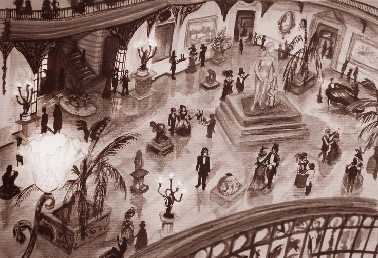 Palacio de Bellas Artes, Santiago de Chile, illustration by Francisco sad