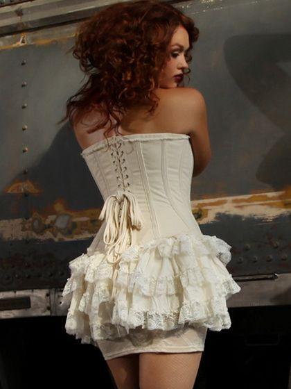 Lace Trim Cotton Bustle From The Plus Size Fashion Community At www.VintageAndCurvy.com