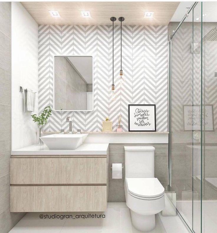 """33 Me gusta, 2 comentarios - Marcela Leal - Interiores (@marcelalealinteriores) en Instagram: """"Bomm dia! Inspiração que banheiro compacto também pode ser moderno. Projeto:…"""""""