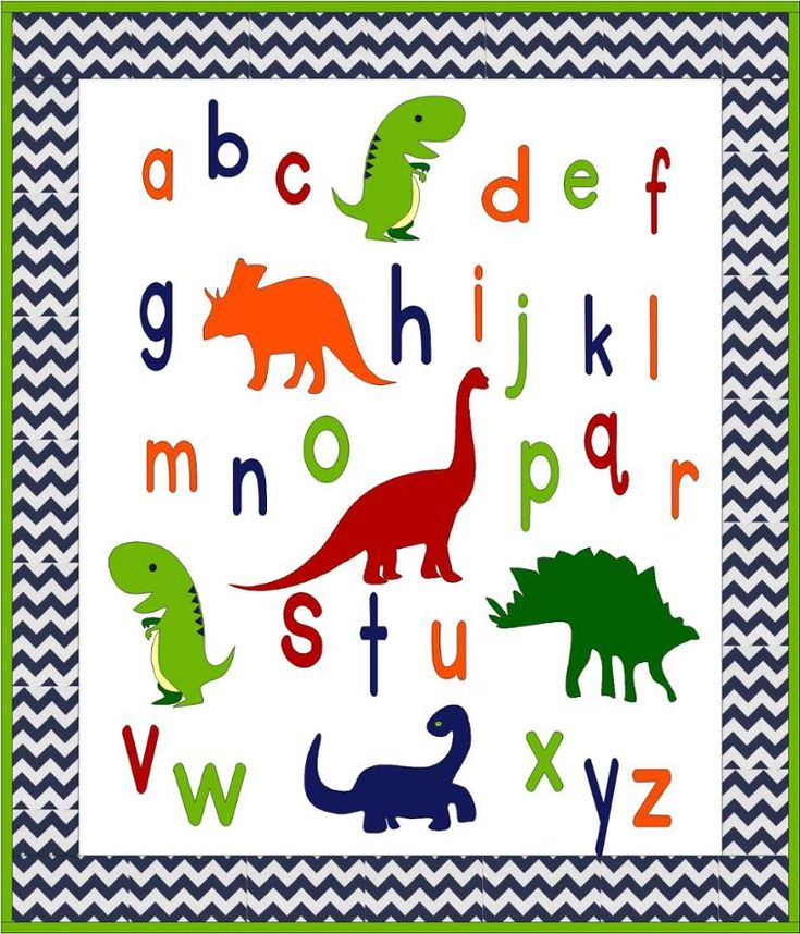 ABC Dinosaurs Baby or Toddler Quilt Pattern | Craftsy