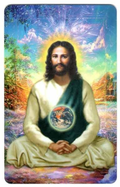 Jesus Christ with Globe Wallet Card