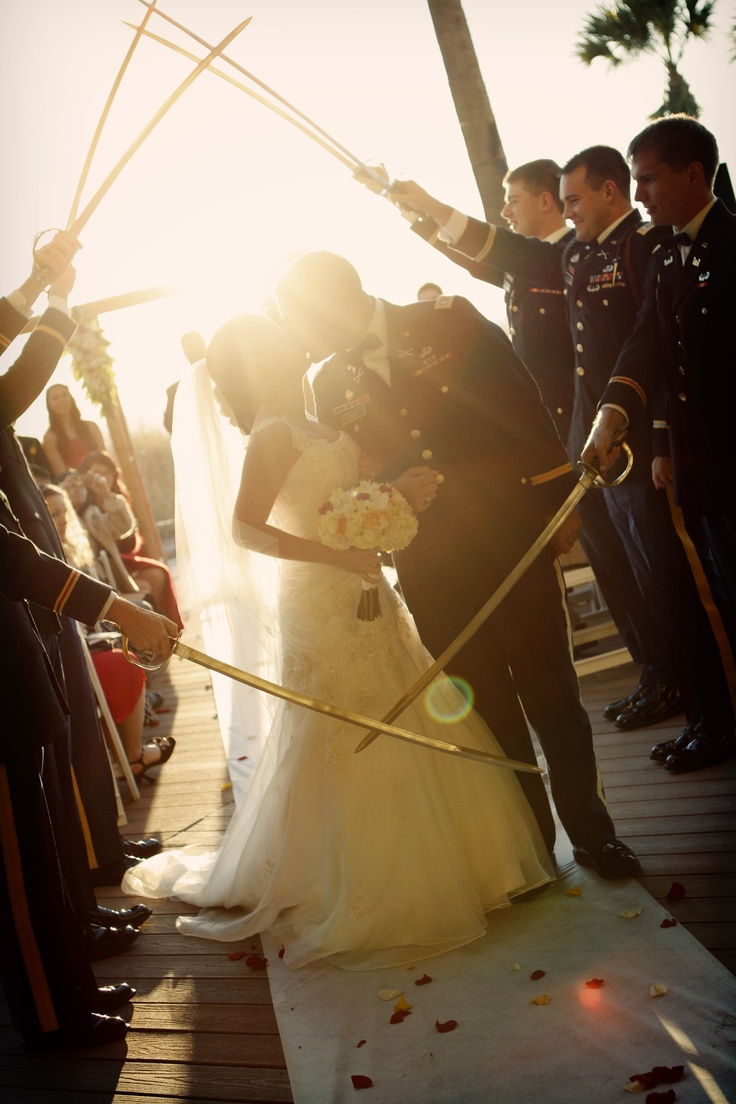 Army wedding's saber arch. Classic. Thanks Rachel Nicole Photography!
