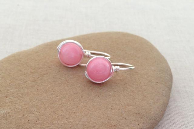 Make Classic Gemstone or Pearl Earrings: Simple Gemstone Bead Earrings with French Hook Earwires