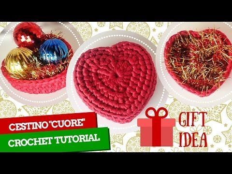 Tutorial Bomboniera all' uncinetto - Scrigno a cuore (crochet) 1/3 - YouTube