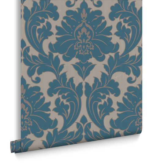 majestic teal wallpaper wallpaper pinterest deco. Black Bedroom Furniture Sets. Home Design Ideas