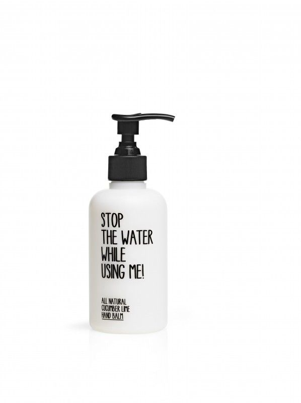 Stop the water while using me - All natural cucumber lime handbalm 200 ml @ www.harten8.com