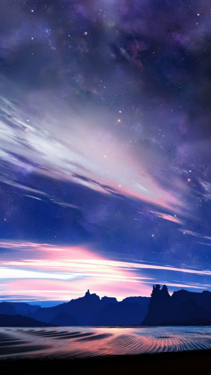 Nature-Beautiful-Starry-Clouds-Skyview-iPhone-6-wallpaper.