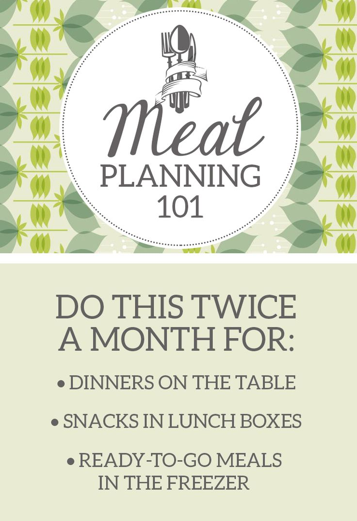 What's Up with The Buells: MEAL PLANNING 101