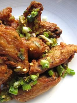 Crispy Chicken Wings Confit via The Greenhouse Tavern. One of my favorite things in the world to eat.
