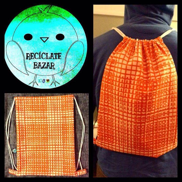 bolso confeccionado en #lona disponible en www.facebook.com/reciclatebazar #handmade #viña #reciclalovers #ecofriendly #valparaiso