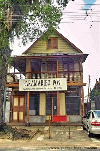 Paramaribo City? Secretly it is still a little village. With this kind of cute buildings. Cool!