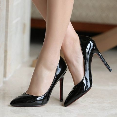 2016 Women High Heels Plus Size 34-42 10 11 Sexy Bride Pointed Toe High Heels Shoes Nude Black Red Women's Pumps Wholesale Shoes