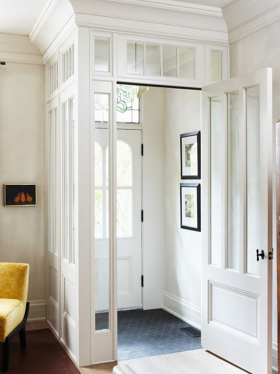 By-gone era entryway buffered the cold weather as well as adding charm
