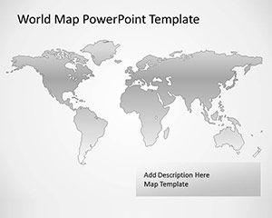 free vector map of the world for powerpoint with gray background powerpoint worldmap