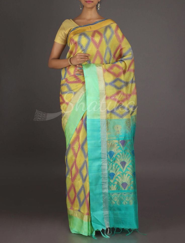 Swetha Colorful Diamonds In A Row #MangalgiriSilkSaree