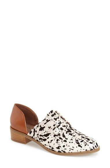 Matisse 'Quake' Leather & Genuine Calf Hair Loafer (Women) #nordstrom
