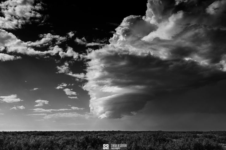 A Half Rotated Weak Cumulonimbus - In Malaga , New Mexico when weather forecast was not in our favor.