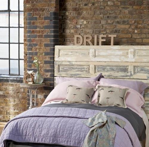 rustic bedroom design purple color scheme   rustic headboard   Rustic bedroom design, Purple bedroom ...