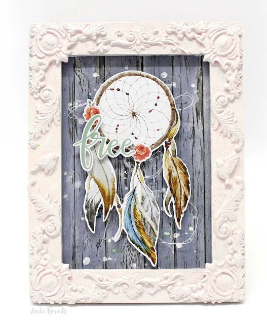 Neat and Crafty: Boho Decor frame by Anita Bownds for Kaisercraft