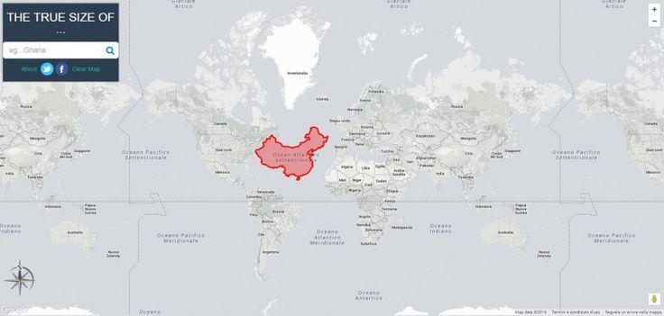 Le vere dimensioni di stati e continenti terrestri sono molto diverse rispetto alle proporzioni distorte delle proiezioni di Mercatore, quelle più usate nelle mappe e che ancora influenzano la nostra percezione del mondo. Lo dimostra graficamente un sito interattivo (e queste foto). Guarda anche le carte geografiche che non ti hanno fatto vedere a scuola