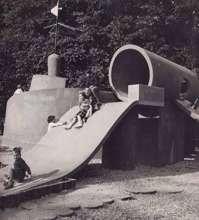 vintage kids playground - midcentury kids design
