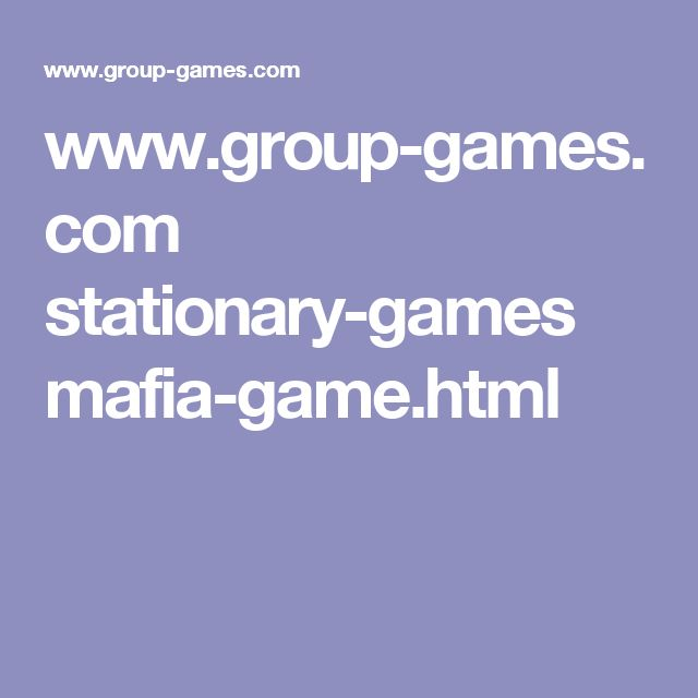 www.group-games.com stationary-games mafia-game.html