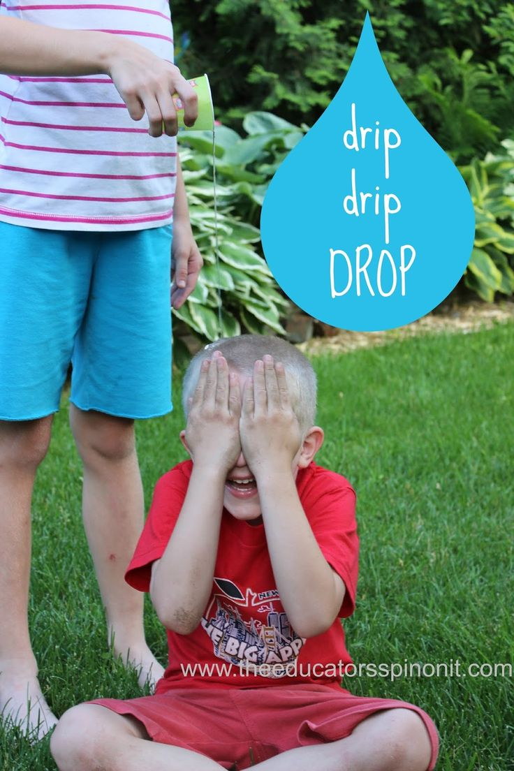 Drip, Drip, Drop - one of the best Outdoor Water Game for Kids.  Summer fun with water. Group games for kids