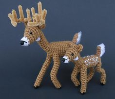 This listing is for my crochet deer pattern only. This one shows you how to make a WHITETAIL DEER. Other deer species such as Elk and Reindeer and soon to follow. This listing is for the ADULT. This pattern is in ENGLISH. The .pdf file will be emailed to you with in 48 hours of payment.